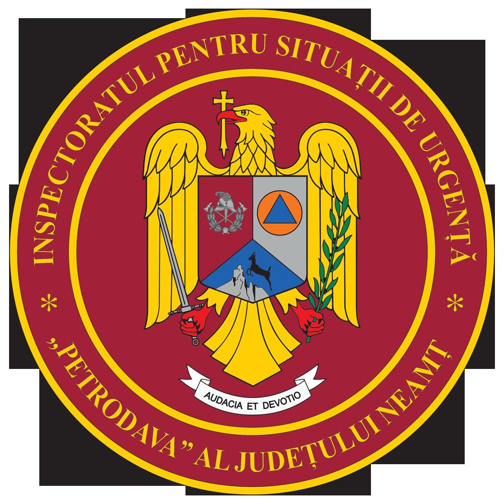 Insemnul heraldic al Inspectoratului pentru Situatii de Urgenta Petrodava al judetului Neamt